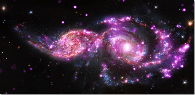 image de l'espace par le télescope Chandra (Nasa)