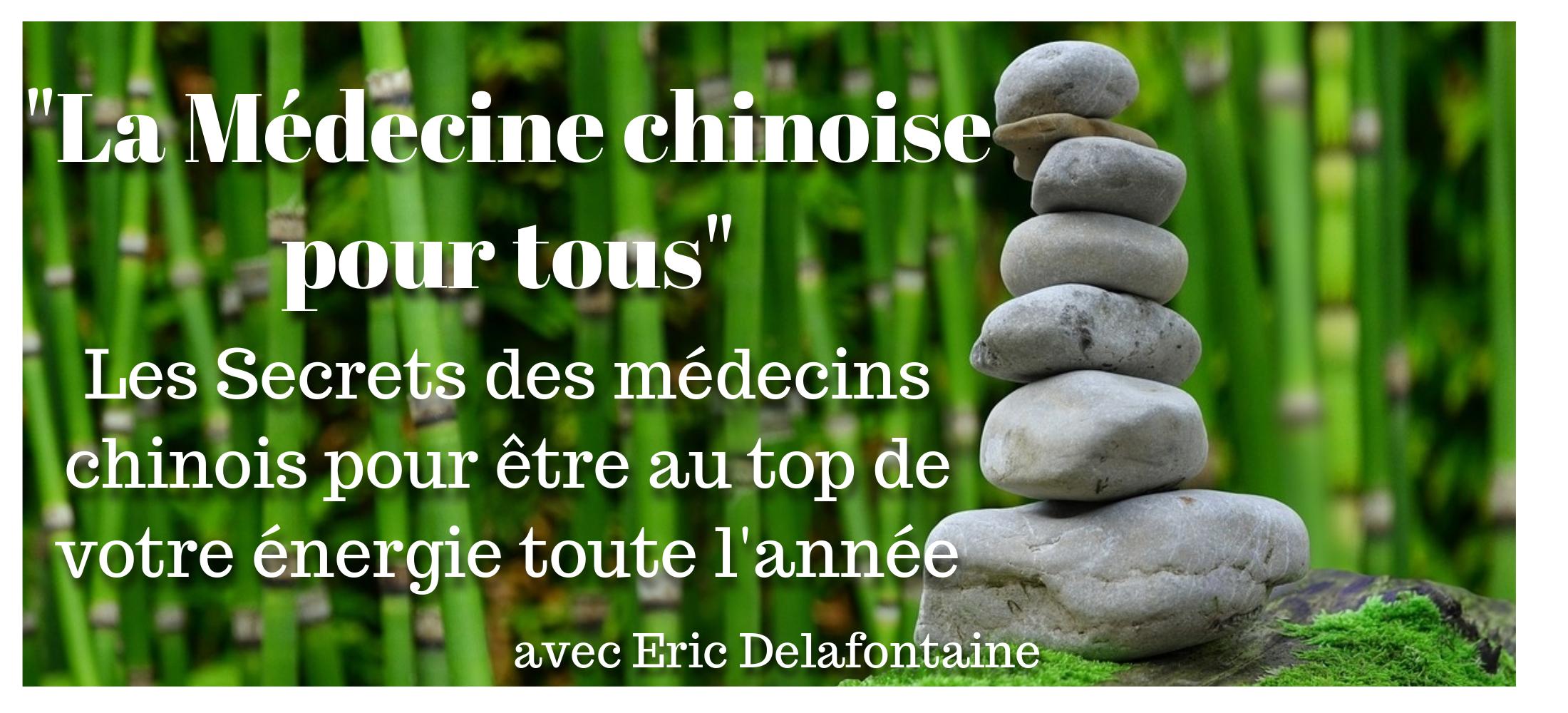Formation la médecine chinoise pour tous par Eric Delafontaine