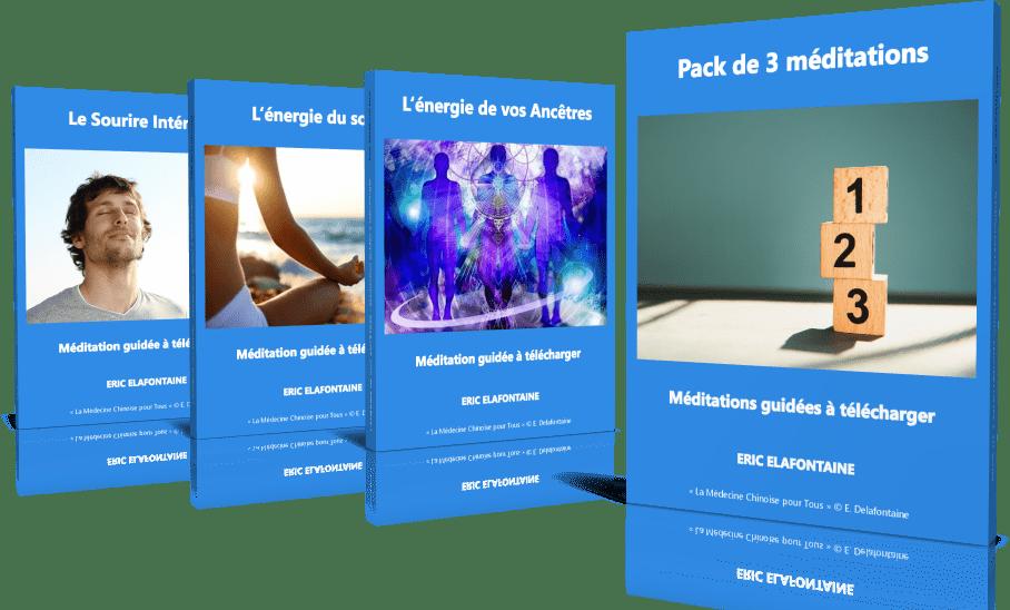 Pack 3 méditations guidées à télécharger par Eric Delafontaine
