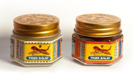Baume du tigre rouge ou blanc pour appaiser les douleurs