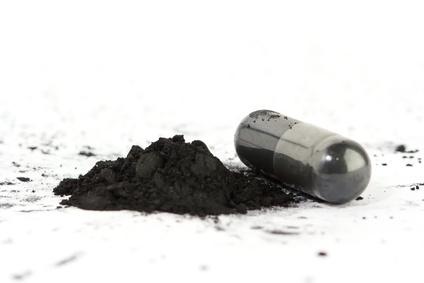gélules de charbon noir végétal